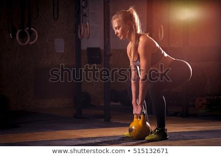 Aranyos lány testmozgás gyönyörű fiatal nő sportok Stock fotó © MilanMarkovic78