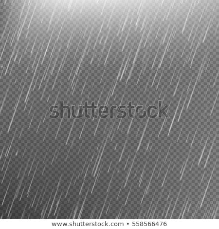 Esik az eső férfi esernyő eső felhők fut Stock fotó © bluering