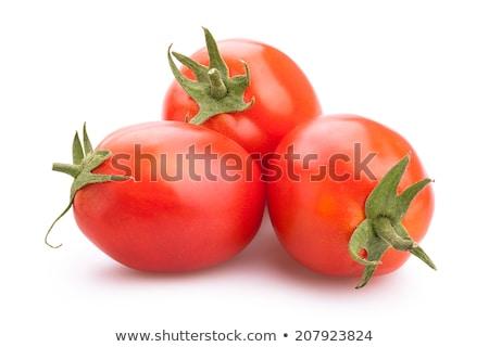 Dojrzały organiczny czerwony śliwka pomidory całość Zdjęcia stock © Klinker