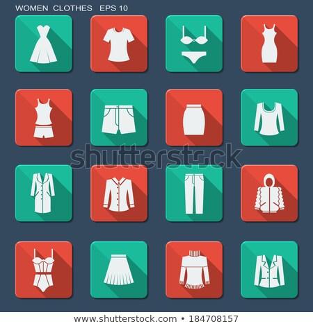 Female underwear design vector flat icons Stock photo © vectorikart