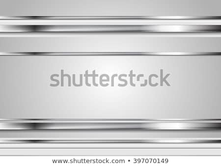 Silver metallic lines, contrast background Stock photo © saicle