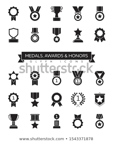 trophy cup and award medals icons stock photo © timurock