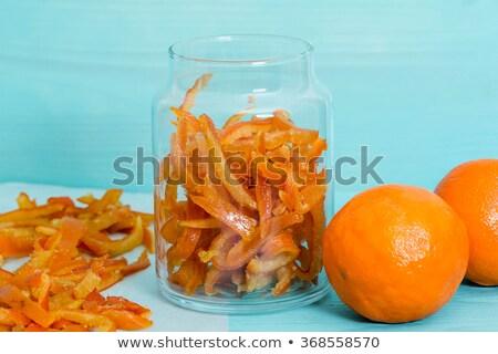 oranje · kom · mandarijn · schotel · witte · achtergrond · organisch - stockfoto © Digifoodstock