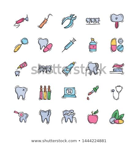 Dental pliers sketch icon. Stock photo © RAStudio
