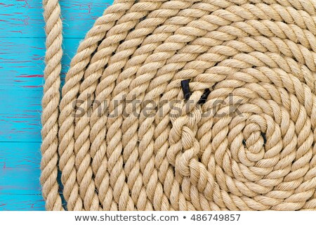 Thick rope in wound up in spiral shape Stock photo © ozgur