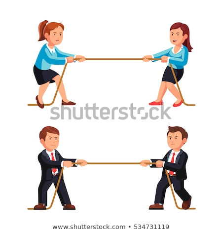 Dwa liny człowiek sportu Zdjęcia stock © zurijeta