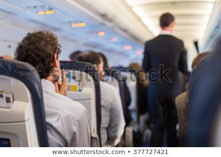 Repülőgép üzlet Föld kék repülőgép bolygó Stock fotó © bluering