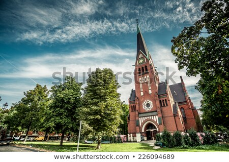 Berlino · chiesa · Germania · muro · tramonto · panorama - foto d'archivio © Customdesigner