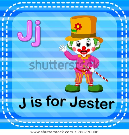flashcard alphabet j is for jester stock photo © bluering