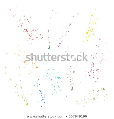 аннотация · красный · частицы · Круги · фон - Сток-фото © imaster