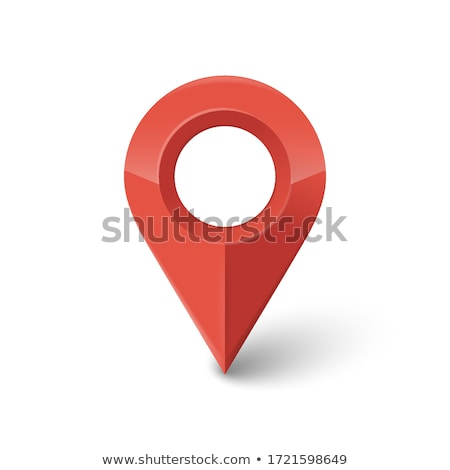 3d map pointer with heart icon map markers vector illustration stock photo © said