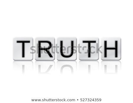 Verdad aislado azulejos cartas palabra escrito Foto stock © enterlinedesign