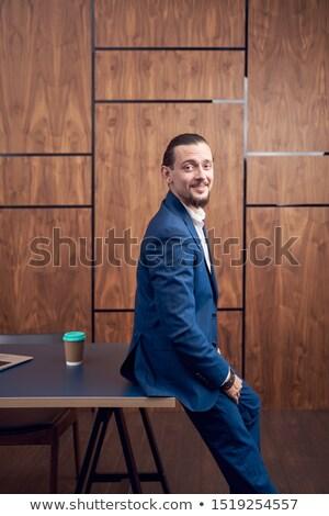 retrato · sessão · tabela · datilografia · negócio - foto stock © deandrobot