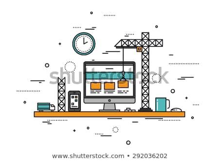 Сток-фото: Building A Website