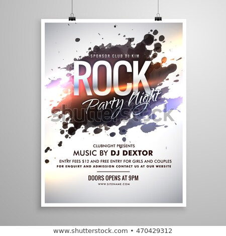 rock music flyer poster template with ink splash Stock photo © SArts