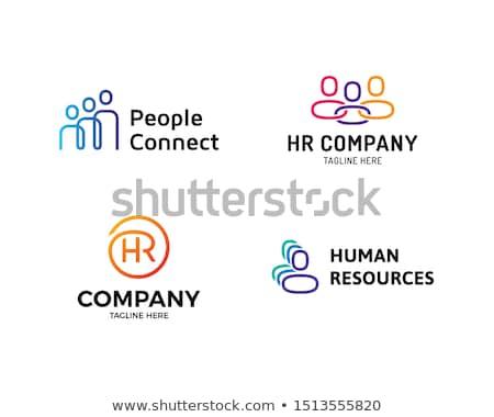 Cadeia logotipo design de logotipo 10 negócio tecnologia Foto stock © sdCrea