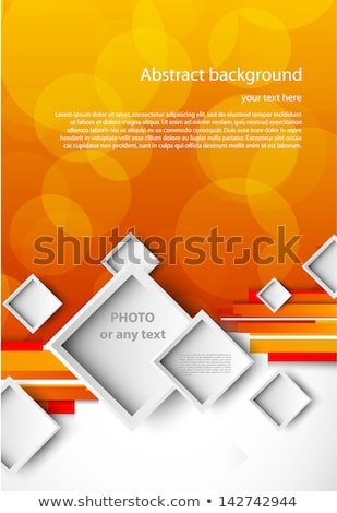 creative leaflet or brochure template design with colorful strip Stock photo © SArts