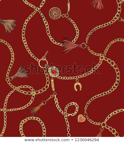 Chain with red lock Stock photo © Oakozhan