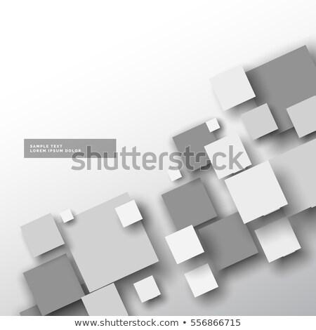 устрашающий белый мозаика эффект 3D стиль Сток-фото © SArts