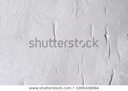 Crumbled grey empty, clean paper texture Stock photo © ShawnHempel