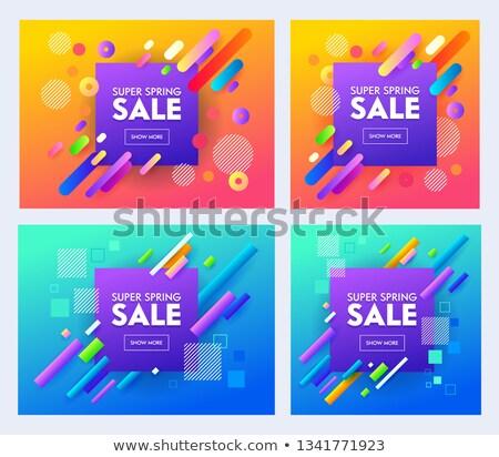 Elegante púrpura publicidad venta banner vale Foto stock © SArts