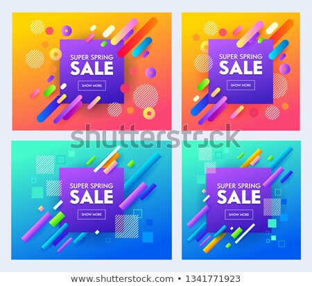 Purple реклама продажи баннер ваучер Сток-фото © SArts