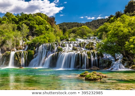 Waterfall in Krka national park in Croatia stock photo © mmarcol