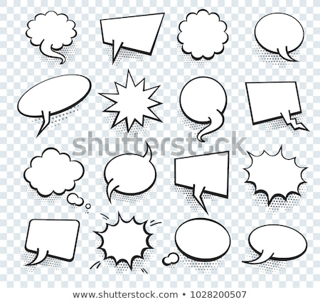 collection of black comic empty chat bubble Stock photo © SArts