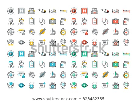 vector set of medical icons for ophthalmology stock photo © m_pavlov