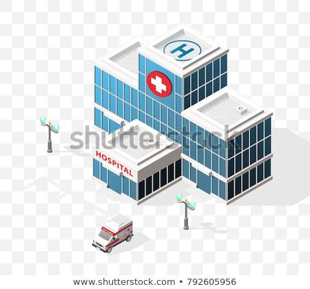 скорой · ван · изолированный · белый · автомобилей · больницу - Сток-фото © bluering