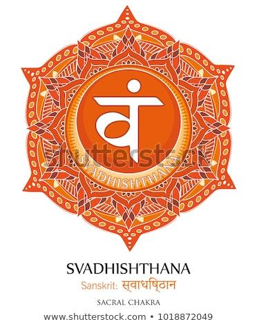 Vetor chakra símbolo ilustração segundo hinduismo Foto stock © TRIKONA