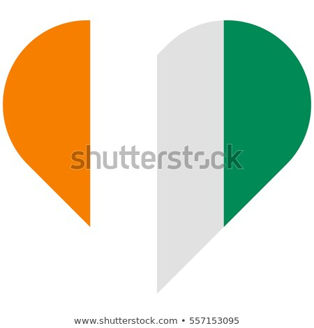 C te d Ivoire flat heart flag Stock photo © Amplion