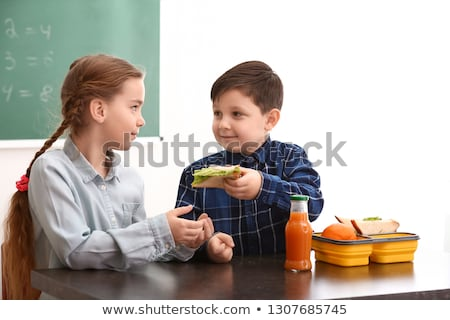 sharing lunch stock photo © fisher