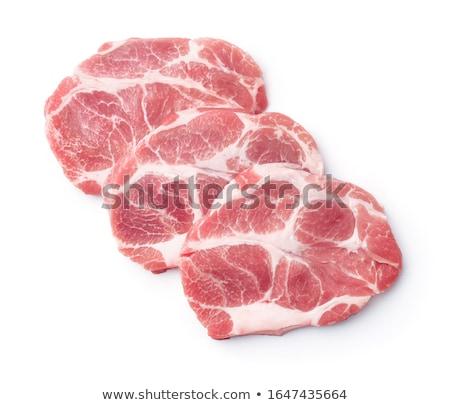 raw pork neck steaks stock photo © digifoodstock