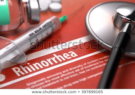 診断 · インフルエンザ · 薬 · 3次元の図 · 印刷 · ぼやけた - ストックフォト © tashatuvango
