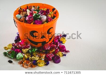 Oranje emmer zoet voedsel halloween Stockfoto © wavebreak_media