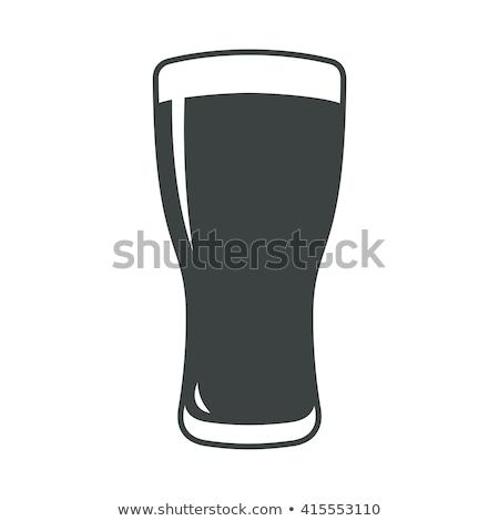Icono vidrio cerveza cebada emblema fondo Foto stock © Olena