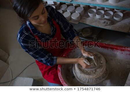 feminino · argila · cerâmica · oficina · mulher - foto stock © wavebreak_media