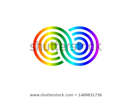 Symbols of LGBT rainbow Pride loop ribbon Stock photo © orensila
