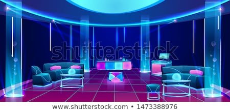 バー · インテリア · カウンタ · レストラン · スタイル · ベクトル - ストックフォト © vectorworks51