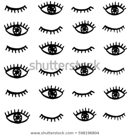 Fulmini umani occhi pop art retro faccia Foto d'archivio © studiostoks