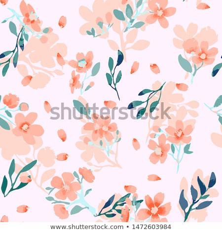 Floral folhas ornamento preto e branco Foto stock © frescomovie