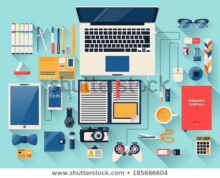 Engagement on Laptop in Modern Workplace Background. Stock photo © tashatuvango