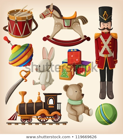 Colored Christmas toys set. Stock photo © frescomovie