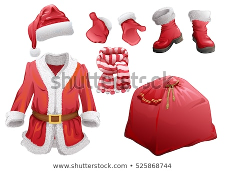 Red Santa boots symbol of accessory Christmas Stock photo © orensila