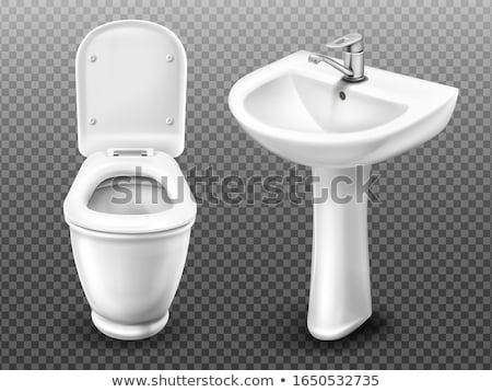 Sink isolated. Washbasin white. Plumbing vector illustration. Stock photo © MaryValery