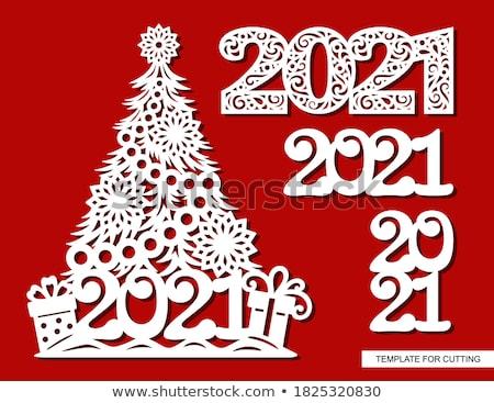 Digitális vektor karácsony új év ünnepek szett Stock fotó © frimufilms