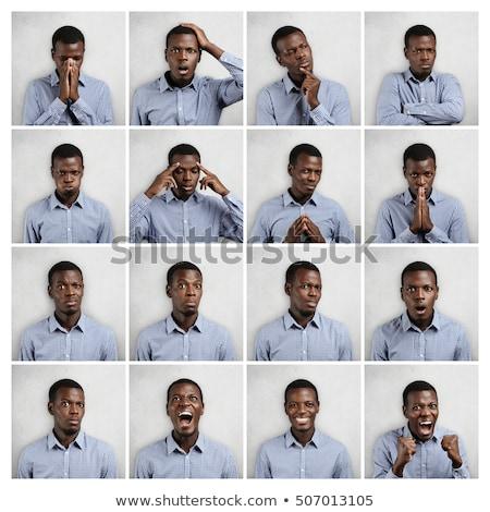 flörtölő · fiatalember · ki · nyelv · férfi · boldog - stock fotó © feedough