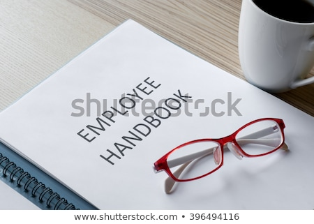 Handboek witte geïsoleerd witte achtergrond Stockfoto © devon