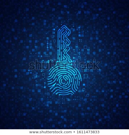Digitale chiave dati stream illustrazione digitale Foto d'archivio © Andreus